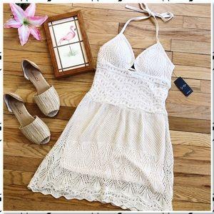Jessica Simpson Ariya Halter Crochet Dress NWT S